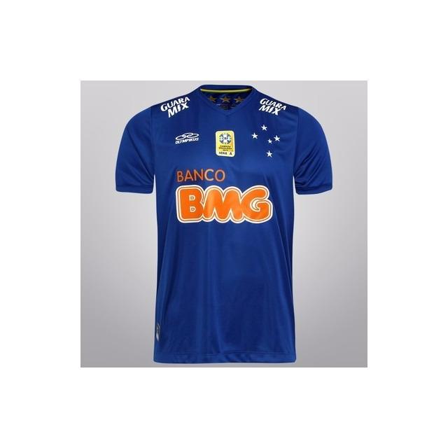 Camisa De Jogo Cruzeiro Olympikus 2014 Azul C  Patch - Nº 10 em ... df4316c421874