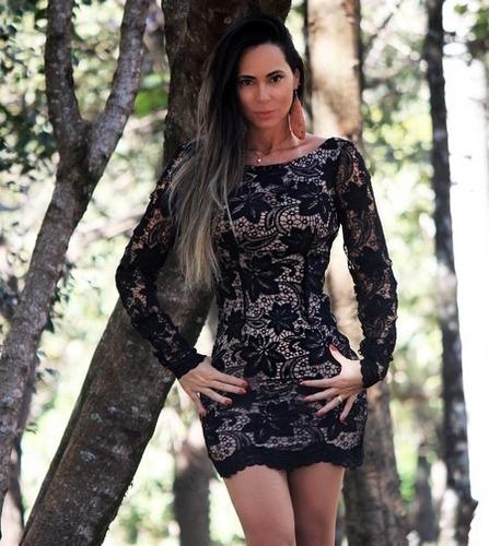 ce3f41793 Vestido Tubinho Balada Curto Decote Manga Renda à venda em Sobral ...