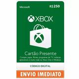 Microsoft Gift Cartão Xbox Br Brasil R$250 (2x 100+50) Reais