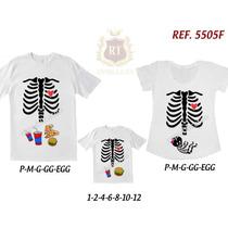 4101b6a7def976 Kit De Camisetas Mãe Gestante Grávida, Pai, Filha(o) Caveira à venda ...