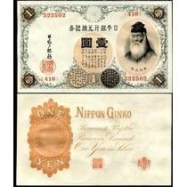 Japão 1 Yen 1916 P. 30c Fe Cédula Belíssima