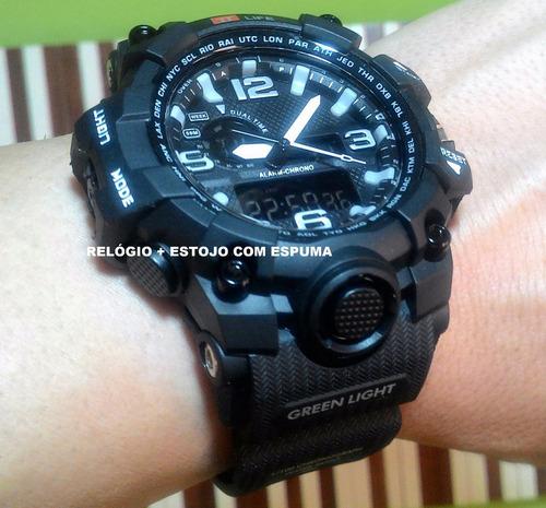 668968edac4 Relógio Prova D água Original Tt Life Digital Militar Preto. R  120