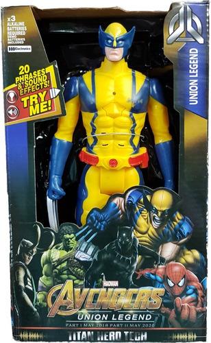 c99f703a48bac Boneco Wolverine Articulado Musical 30cm Grande Vingadores