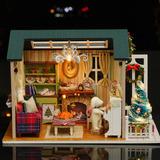 Diy Kit De Casa De Bonecas Em Miniatura De Natal Realista