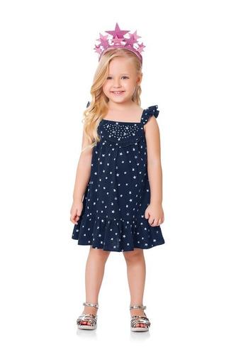 ed5e751f0e Comprar Roupa Infantil Menina Vestido Malha Estrela 3 Anos Fakini ...