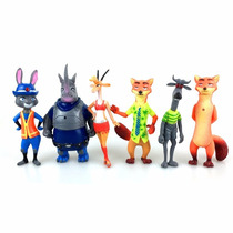 Kit Bonecos Personagens Zootopia Filme Disney Nick Fox Judy
