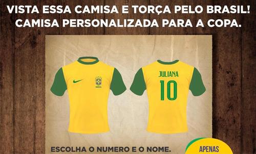 Camisa Brasil Personalizada Pronta Entrega ¿ - R  38 en Melinterest e72e3fa6f9c08