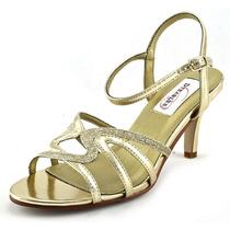 Dyeables Taylor Mulheres Us 7 Ouro Platform Sandal