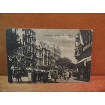 Cartão Postal Rio De Janeiro Av Rio Branco 1921