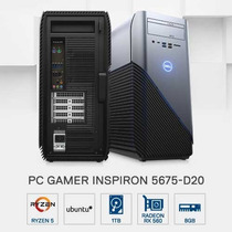 Pc Gamer Dell 5675-d20 Amd R5 8gb 1tb Rx560 2gb Linux
