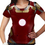 Camiseta Homem De Ferro Traje Mark 42 Feminina