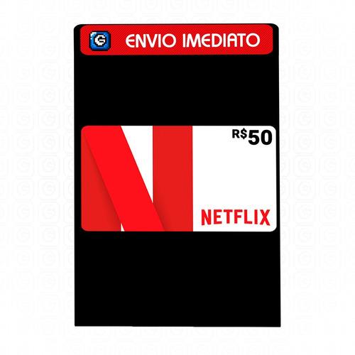 Cartão Pré-pago Presente Netflix R$ 50 Reais Envio Imediato