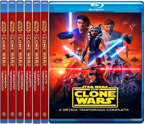 Serie Star Wars The Clone Wars  Blu Ray Dublado  Legendado