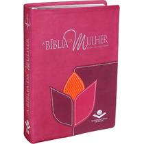 Bíblia De Estudo Da Mulher Grande 17x23,5 Arc Capa Bordada