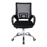Cadeira De Escritório Trevalla Cde-26-1  Preta Con Estofado Do Malha