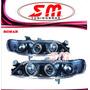 Farol Projector Angel Eyes Gm Vectra 97/98/99 Black