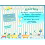 Convite Personalizado - Chá De Bebê Ou Aniversário Infantil