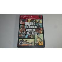 Gta San Andreas (grand Theft Auto) Ps2 Original Com Manual !