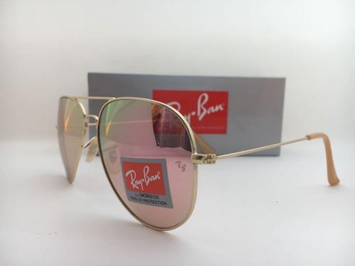 96ddcc0e6 Oculos De Sol Ray Ban Aviador Lentes 100% Uv Frete Gratis. R$ 149