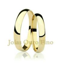 Par De Aliança Em Ouro 18k 750 Para Casamento Barata
