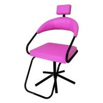 Cadeira Salão De Beleza Slim Rosa