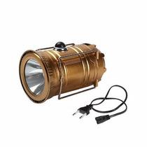 Lampiao Solar Led Usb + Lanterna Bateria Recarregavel