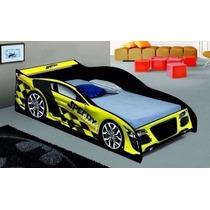 Cama Carro Solteiro Speed Racing- Movz Moveis