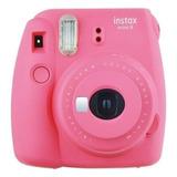 Câmera Instax Mini 9 Instantanea Pink Rosa Fujifilm-original
