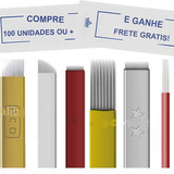 Lamina Tebori Microblading 9, 18u, 11, 12 Pontas Hard Flex