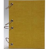 Caderno Pequeno Argolado Fichário Linho Am 170x230mm 192 Fls