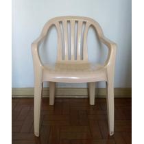 Cadeira Poltrona Plástico Classic Goyana - Cor Bege
