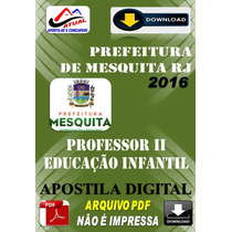 Apostila Pref Mesquita Rj Professor I I Educacao Infantil