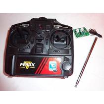 Kit Controle+receptor+ Antena Do Helicóptero Batman Candide