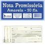 Nota Promissoria Amarela 20 Blocos Com 50 Folhas