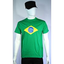 Camisetas Estampada Bandeira Do Brasil - Fardas E Uniformes