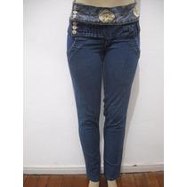 Calça Jeans Com Detalhe Na Cintura Tam 42 Mix Bom Estado