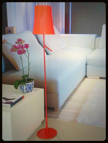 Abajur Coluna De Chão Moderno Vermelho Para Sala Ou Quarto  ~ Abajur Ou Luminaria Para Quarto