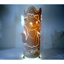 Luminária De Pvc Gatinha Marie