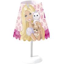 Abajur Cônico Barbie Decoração Quarto Infantil Menina Starte