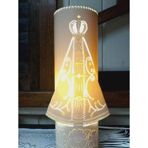 Luminária Artesanal Em Pvc - Nossa Senhora Aparecida