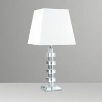 Abajur Luminária Vidro Cristal 4 Cubos Moderno Sala - Golden