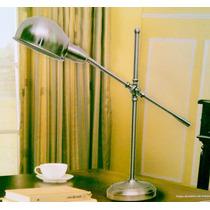 Luminária Arquiteto Abajur Leitura Mesa Aço Escovado Poste