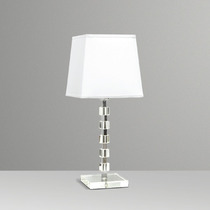 Abajur Luminária Alumínio Cristal Cubo Vidro Sala - Golden