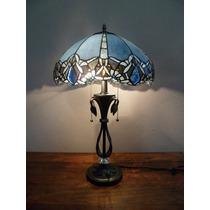 Lindo Abajur Tiffany Com Pedra Em Cristal Cod 16801