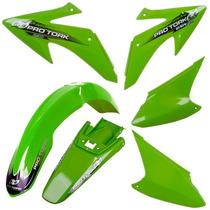 Kit Plasticos Roupa Honda Crf 230 Pro Tork Verde + Brinde
