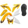 Kit Plástico Crf Amarelo Pro Tork Com Farol Universal