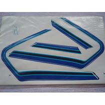 Adesivo, Jogo De Faixa Honda Cg Bolinha 1982 - Azul