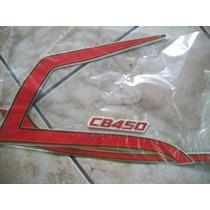 Cb 450 85 Vermelha Jogo De Faixas Adesivas Completo