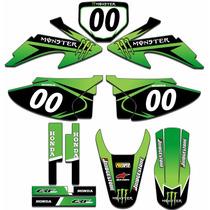 Kit Adesivos Gráficos Moto Crf 230 Completo + Proteção Crf08