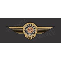 Adesivos Harley Davidson Fat Boy Special Dourada!!! Decalx
